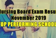 nursing board exam result top schools