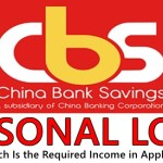 China Bank Personal Loan