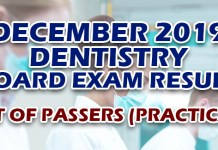 Dentist Board Exam Result December 2019