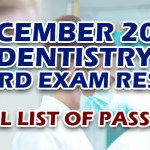 Dentist Board Exam Results December 2019