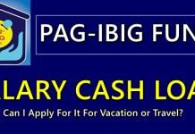 Pag-IBIG Salary Cash Loan