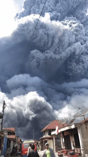 Indonesia Volcano Erupts: Mount Sinabung Spews Huge Ash Clouds