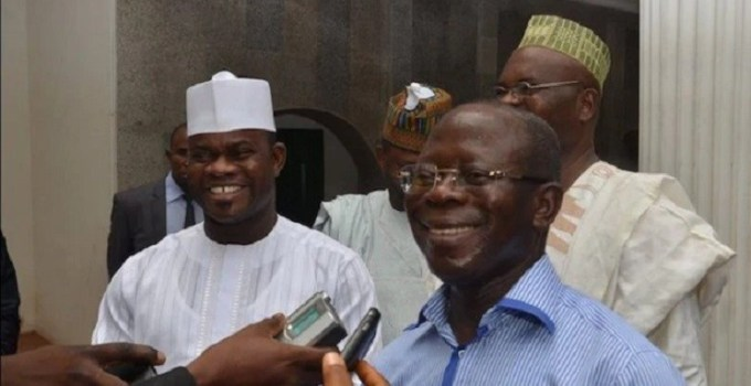 Oshiomhole and Yahaya Bello