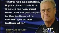 Police Chief Wade Goolsby threatens his own police officers to find out who leaked corruption by Goolsby to the media. Jim Blagg completely lies about it.