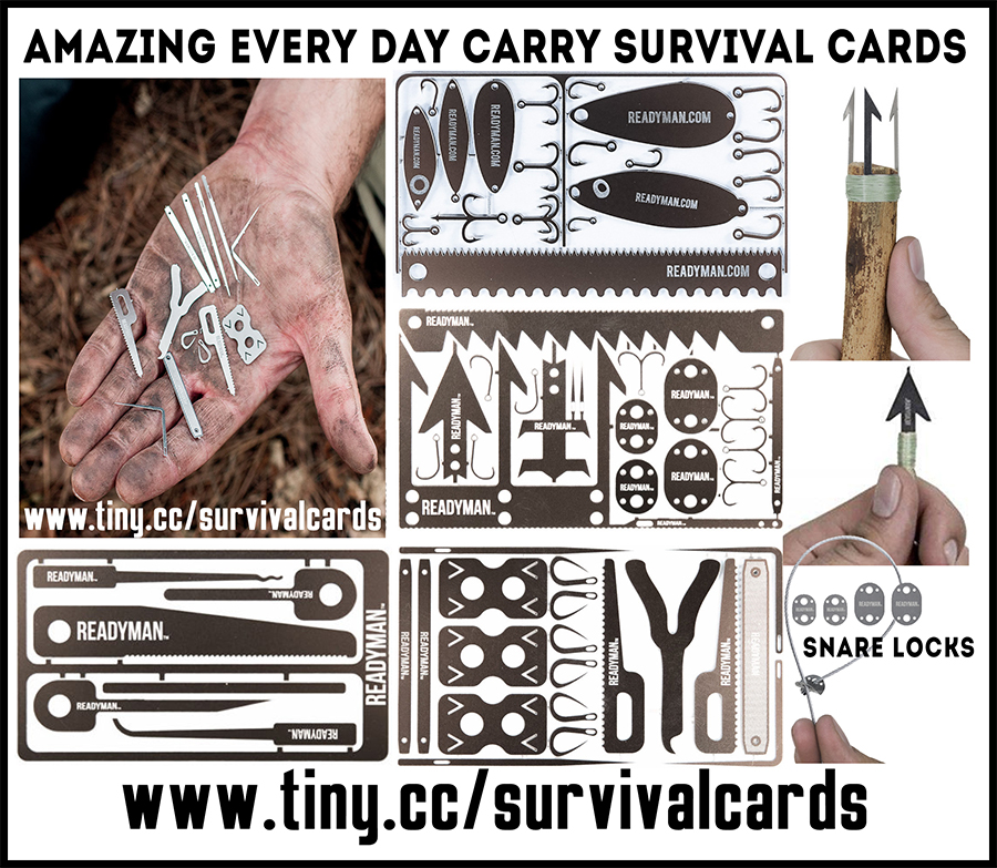 Amazing EDC multi tool survival cards
