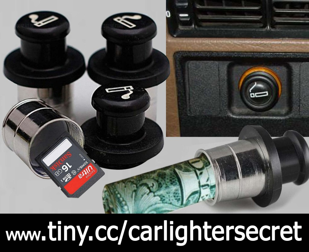 secret conceal car lighter hiding spot