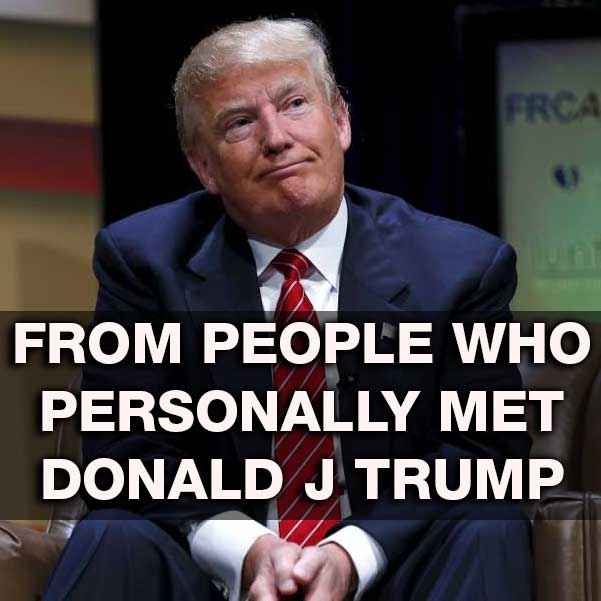 People who met Donald Trump in Person interpersonal relationships with the president