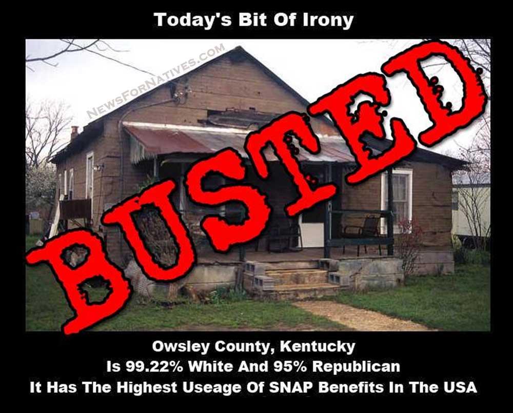 Owsley County Kentucky White Republican SNAP benefits