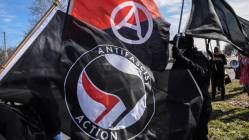 flags is ANTIFA a political party are ANTIFA violent riot protestors