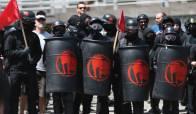 shields helmets is ANTIFA a political party are ANTIFA violent riot protestors