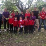 Natwest staff grab shovels to dig deep for Swansea school