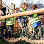 Schoolchildren open new play area in Dinas Powys