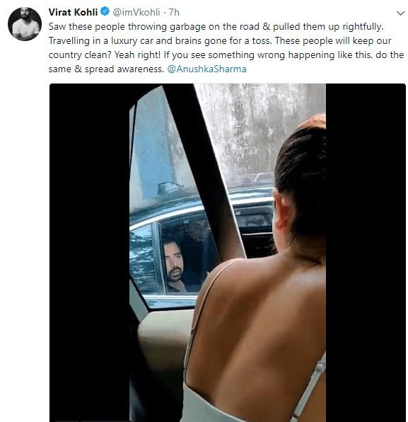 अनुष्का ने गाड़ी रुकवाकर बीच सड़क पर शख्स को हड़काई