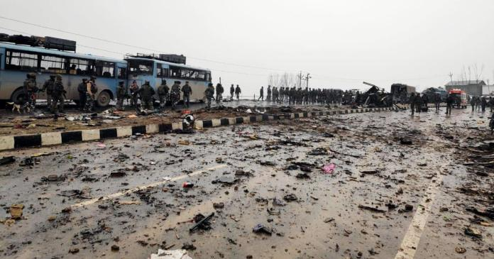 millitants attacked convoy of crpf in jammu and kashmir pulwama attack