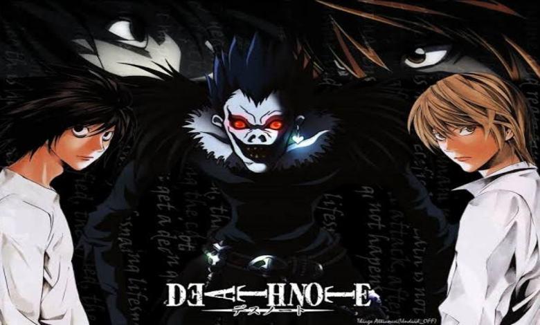 Trio no centro da história do anime e mangá Death Note