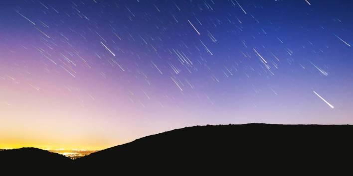 chuva de meteoros, um dos eventos astronômicos que ocorrerá em abril
