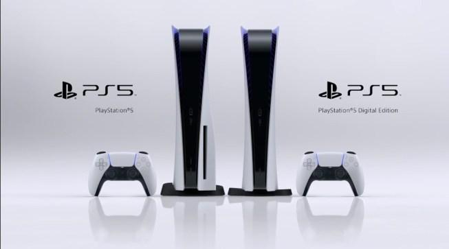 As duas versões do Playstation 5. Com suporte para mídia física e apenas para mídias digitais