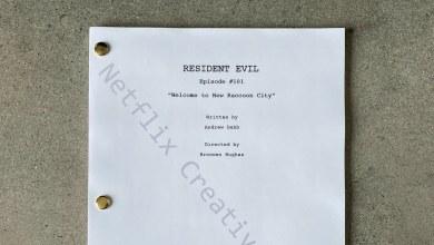 Imagem do roteiro da série de Resident Evil da Netflix