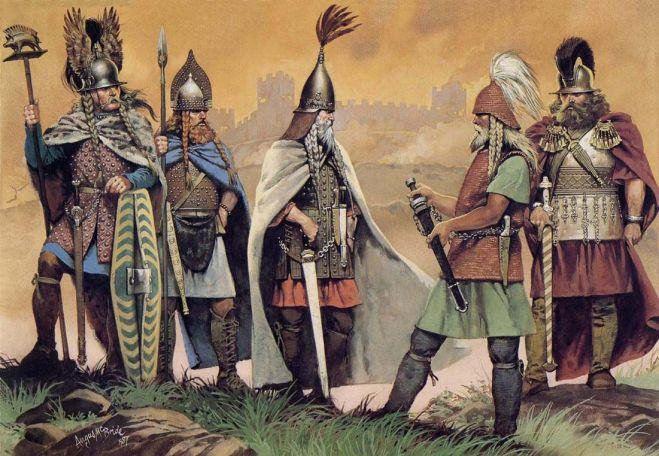 Ilustração de Guerreiros Celtas