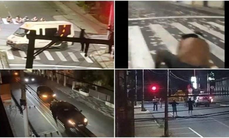 Imagens após o roubo a banco em Criciúma/SC.