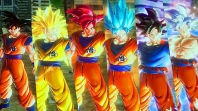 Ilustração - Goku e suas Transformações.