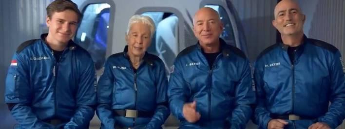 Blue Origin Vai CEO da Empresa Para o Espaço