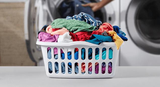 Lave roupa com Menor Frequência