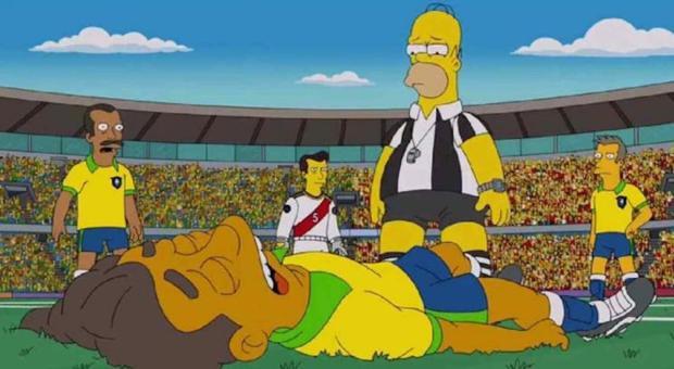 Simpsons prevê lesão de Neymar