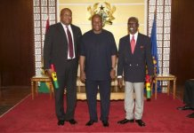 Ambassador Victor Smith, President John Mahama, Dr. Tony Aidoo
