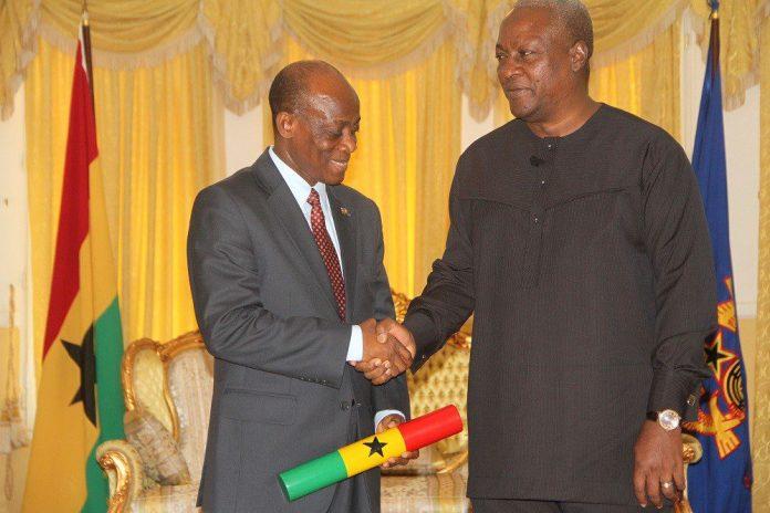 Seth Terkper and President John Mahama