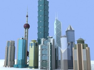 Skyscrapers and other magnificent buildings have taken over the skyline of mainland China ?