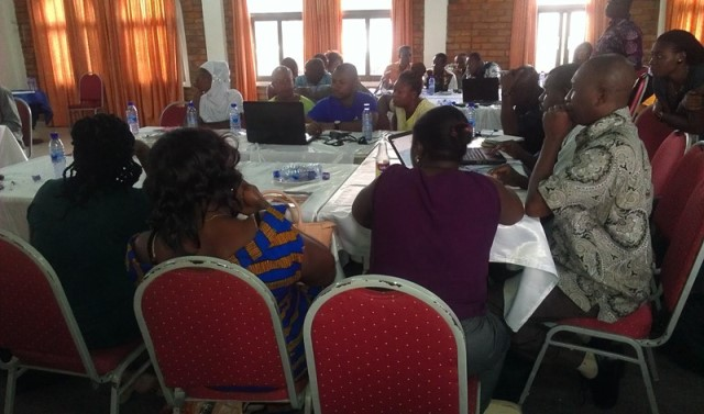 Participants at the training