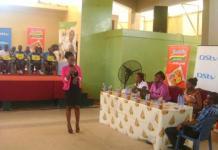 Ms Pamela Takyiwaa giving a speech