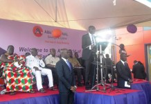 Mr Godfred Osei-Boakye, Managing Director of ABii National, delivering a speech