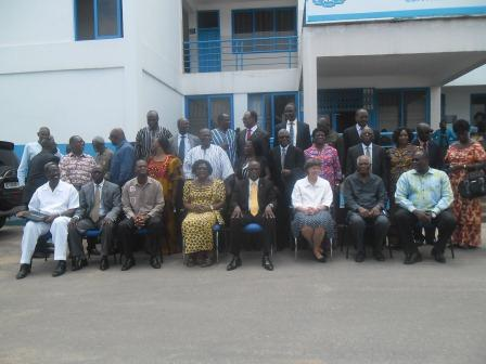 Participants in a group picture