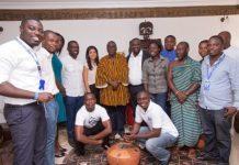 Tigo leadership team visit Paramount Chief of Esikado, Nana Kobina Nketsia V