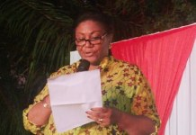 Mrs. Rebecca Akuffo Addo delivering a speech