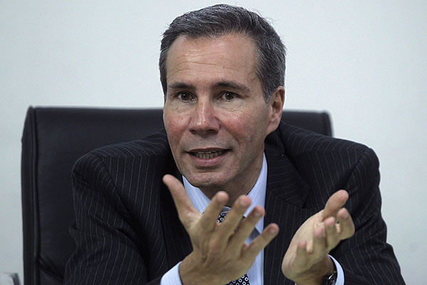 Mr Nisman was found dead in his flat in an apartment block in Buenos Aires