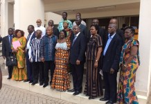 Prof. Jane Naana Opoku Agyeman in group picture with Board members