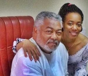 Dr. Jerry John Rawlings and daughter Dr. Ezenator Rawlings
