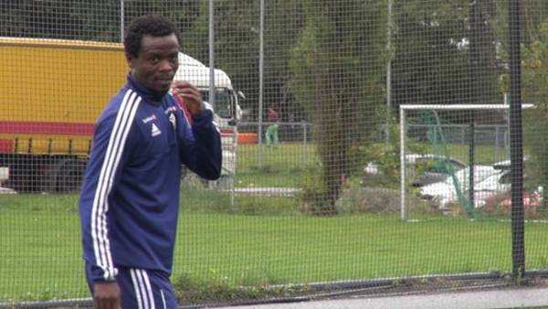 Anthony Annan training with Stabaek