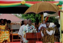 VEEP Amissah Arthur at Ngmayem Festival, Krobo Odumase in the Eastern Region