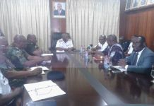 official meeting of the Commissioners with the GAF