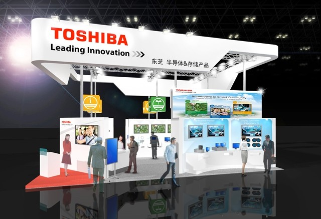 Toshiba: ELEXCON 2015 Booth (Graphic: Business Wire)