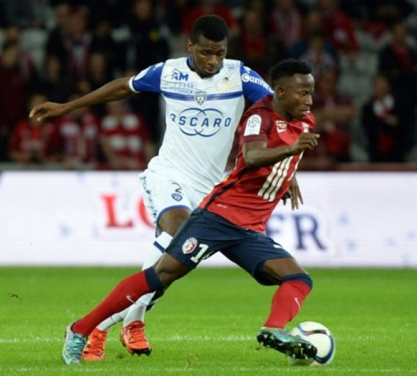 Manchester City's Yaw Yeboah started his debut game for Lille in France