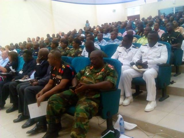 A cross-section of the audience at the lecture
