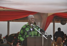 Vice President Amissah-Arthur addressing the 2015 WASSA at Burma Camp