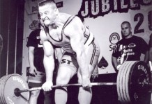 deadlift veteran Mr Ozols lifting the 270-kilomgramme metal during the July 14 competition in Dobele, Latvia