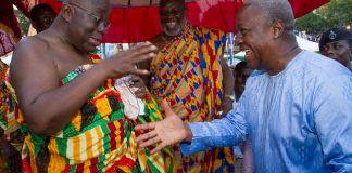 John Mahama exchanging pleasantries with Nana Akufo-Addo