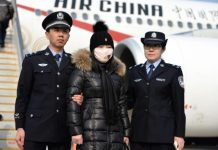 An economic fraud suspect surnamed Zhang was extradited to China after ten years on the run in Italy in February 2015. (Photo by People's Daily)